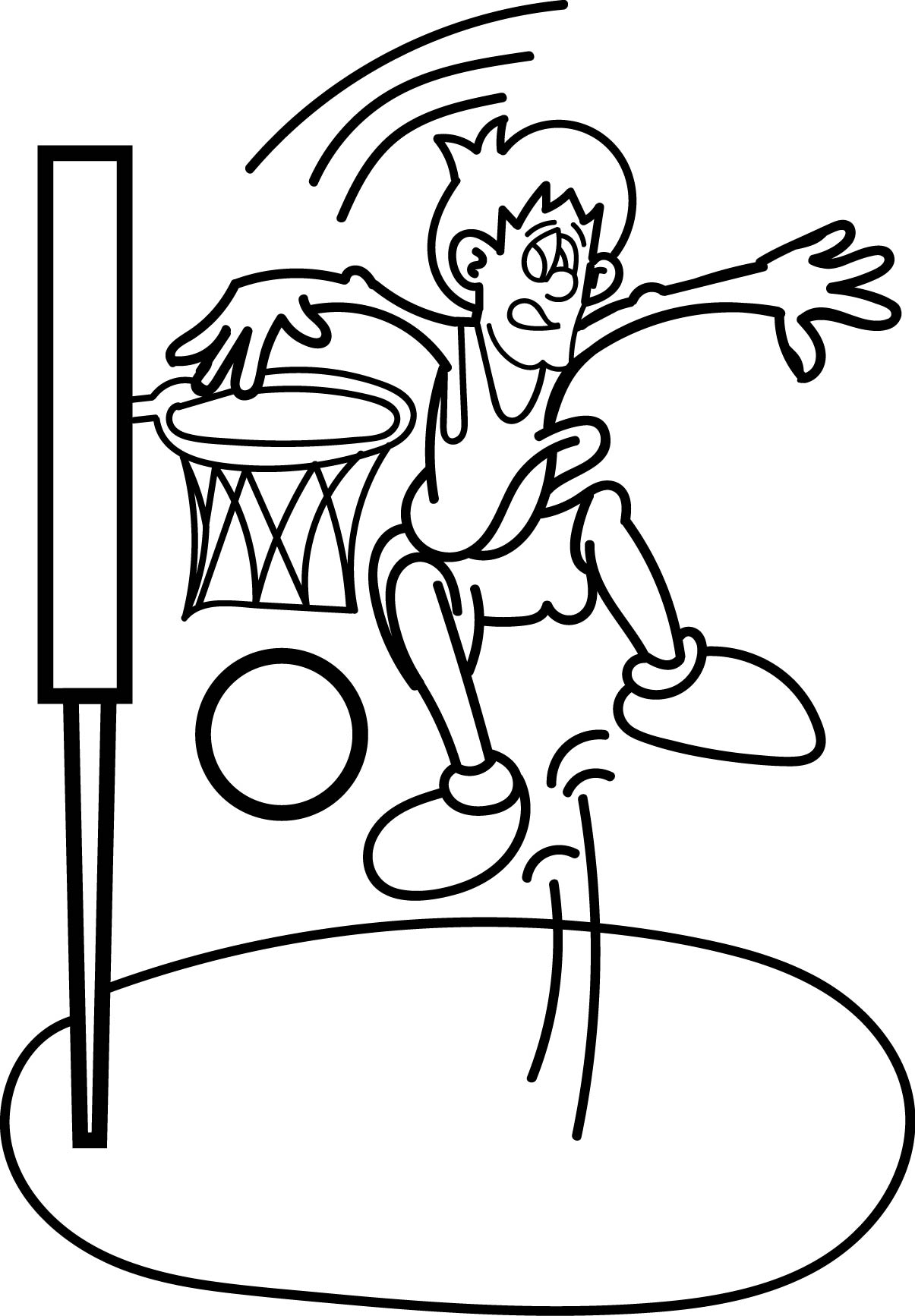 Printable Basketball Coloring Pages