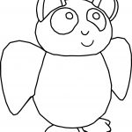 Bat Cute Cartoon Coloring Page