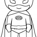 Bat Superhero Kids Coloring Page
