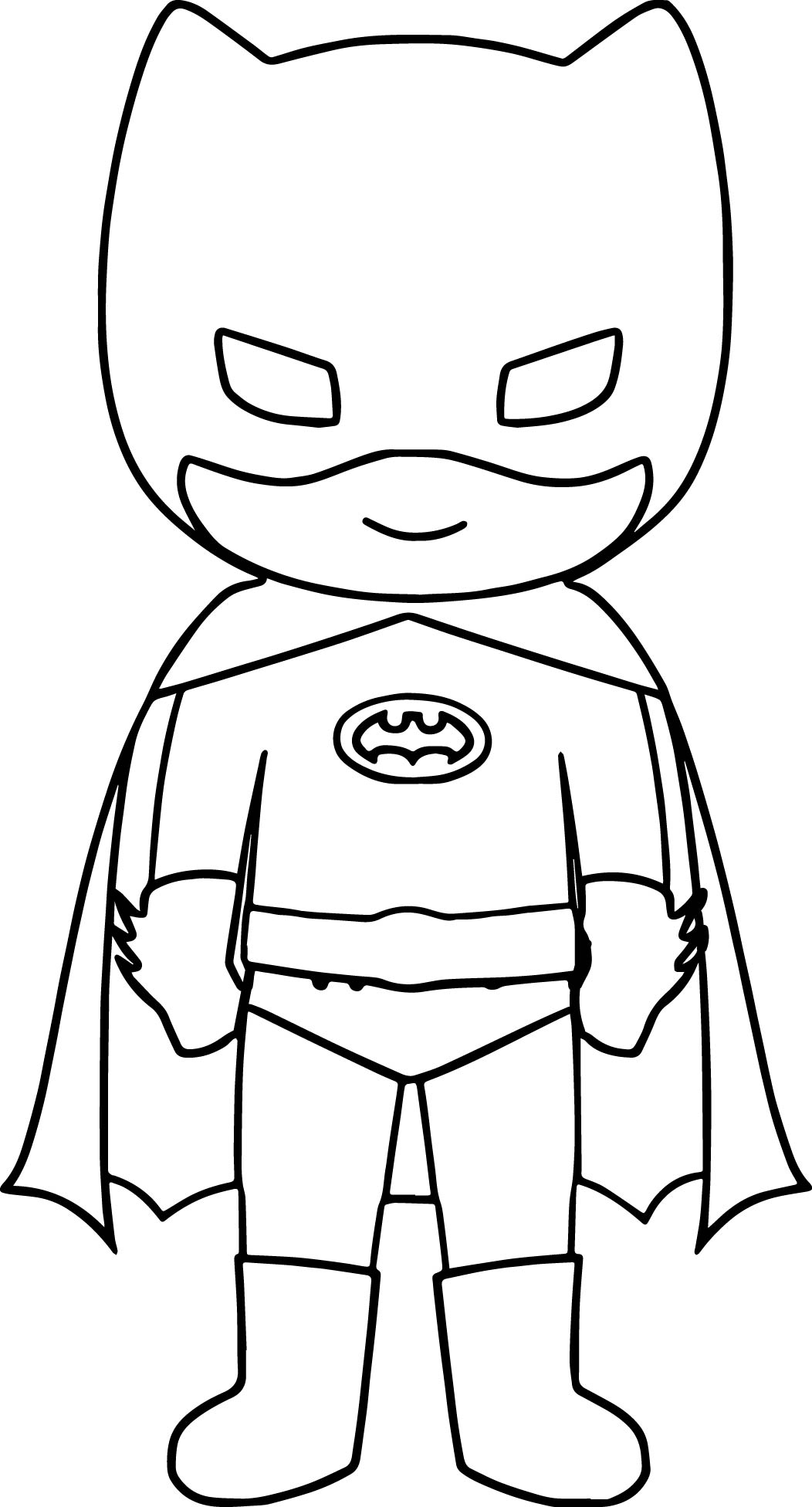 Bat Superhero Kids Coloring Page