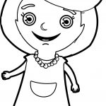 Beautiful Happy Girl Coloring Page