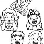 Beautiful Kids Coloring Page