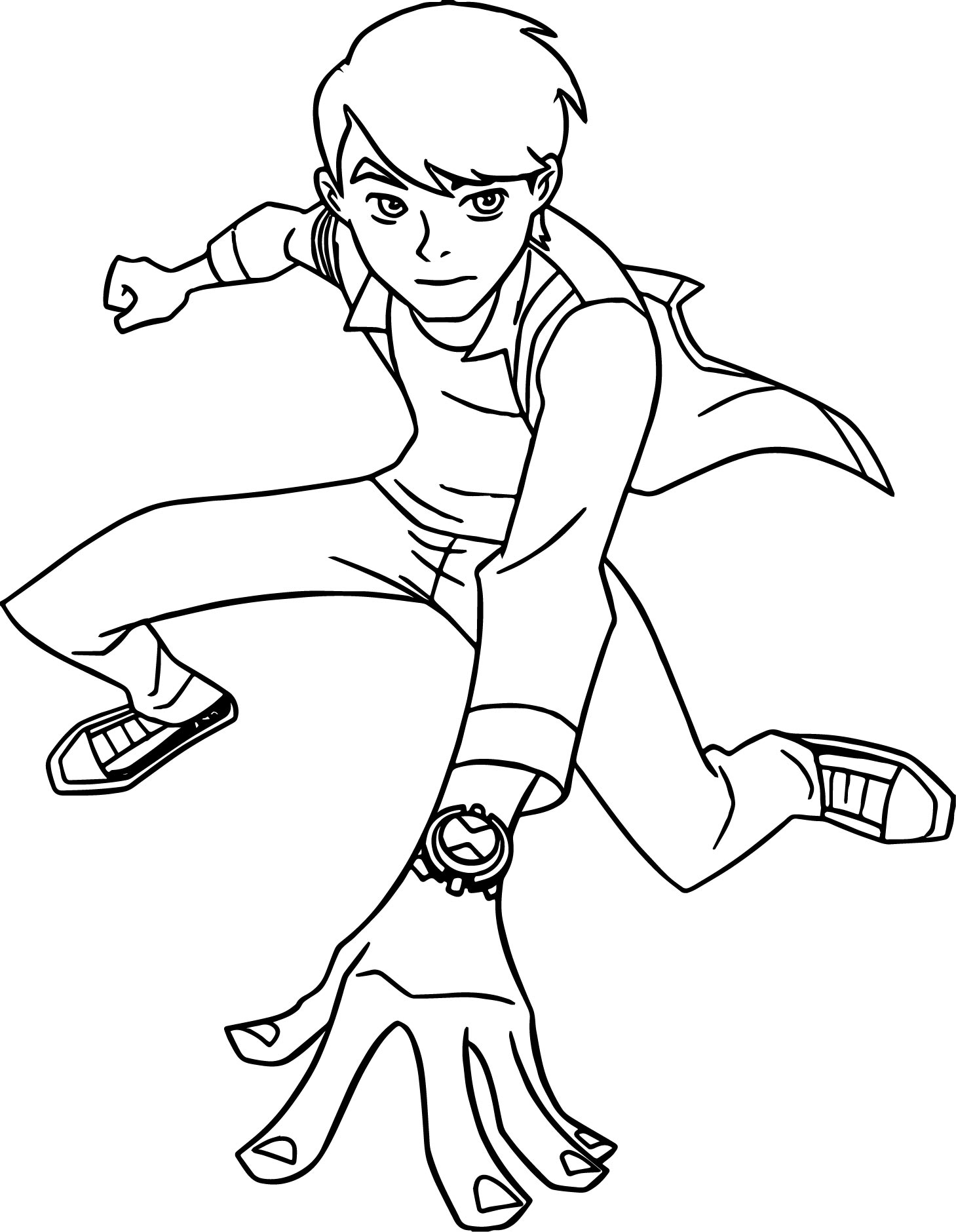 ben 10 alien force coming coloring page wecoloringpage