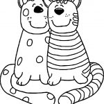 Best Friend Cats Coloring Page