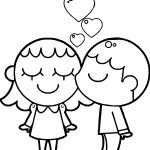 Best Friends Boy And Girl Coloring Page