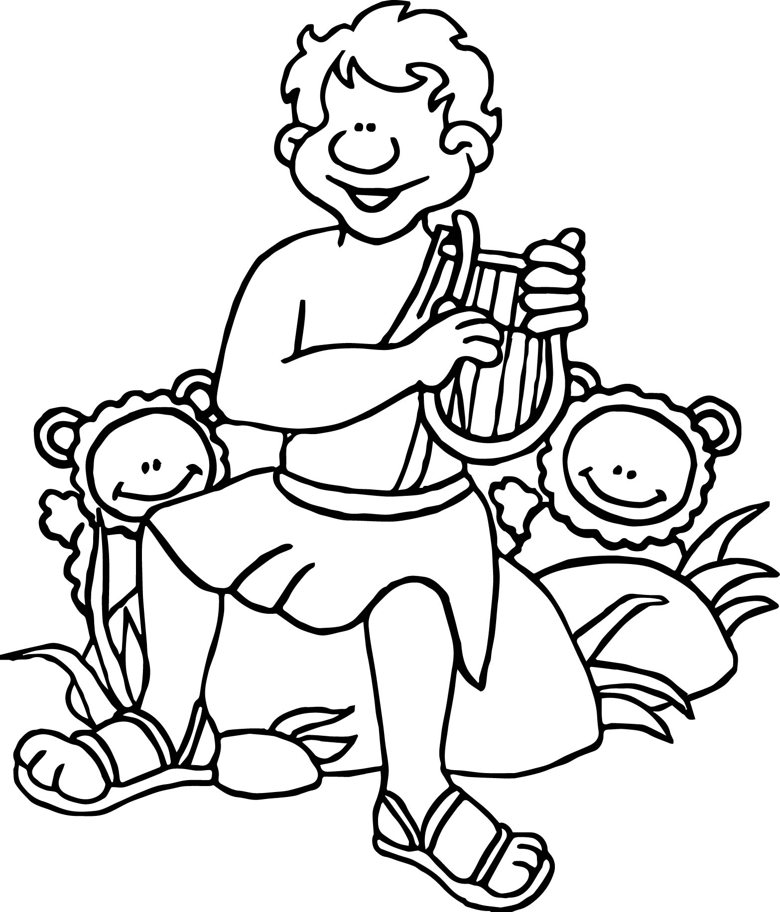 Bible Psalms Coloring Page