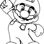 Big Super Mario Coloring Page
