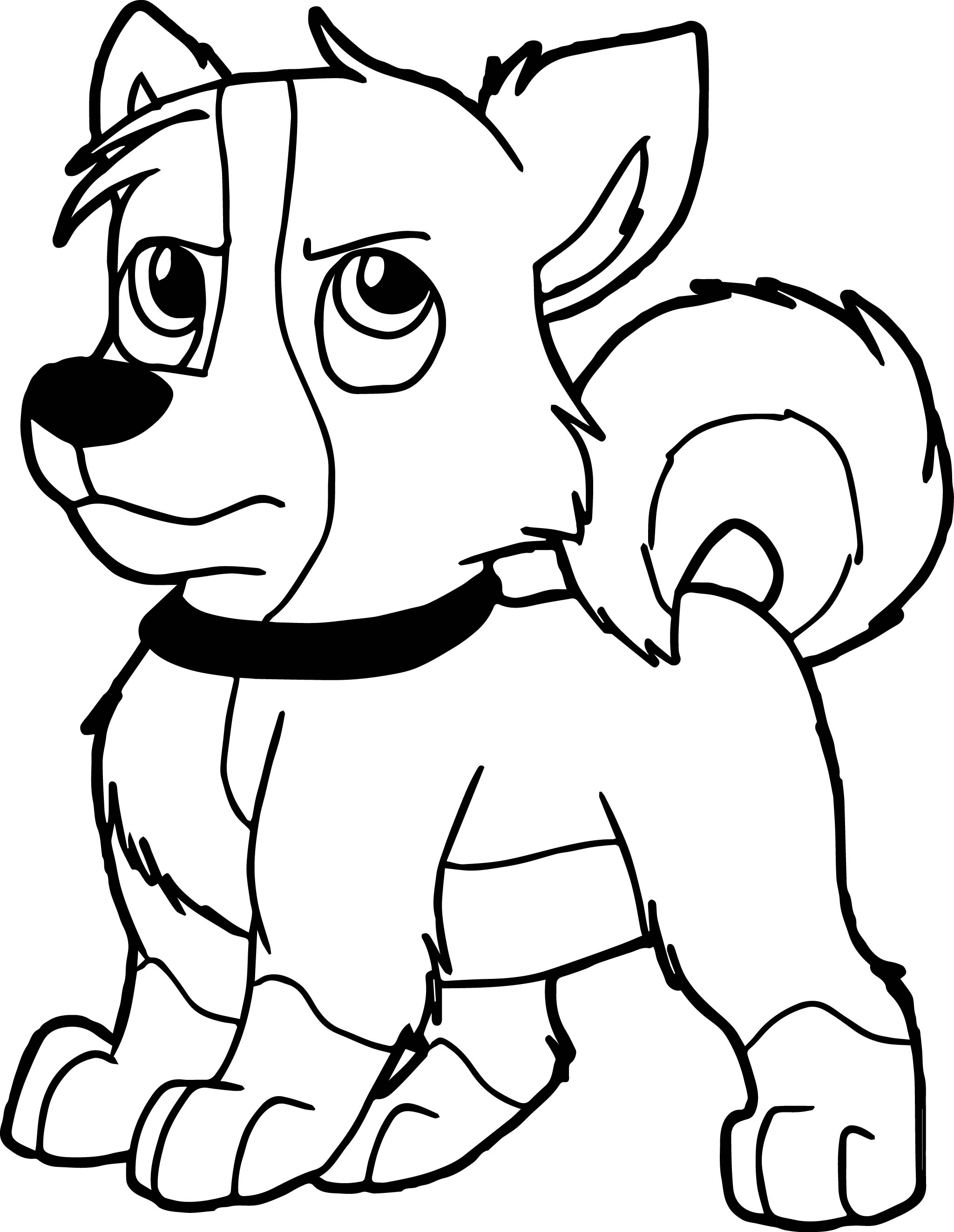 blizzard dog coloring page wecoloringpage