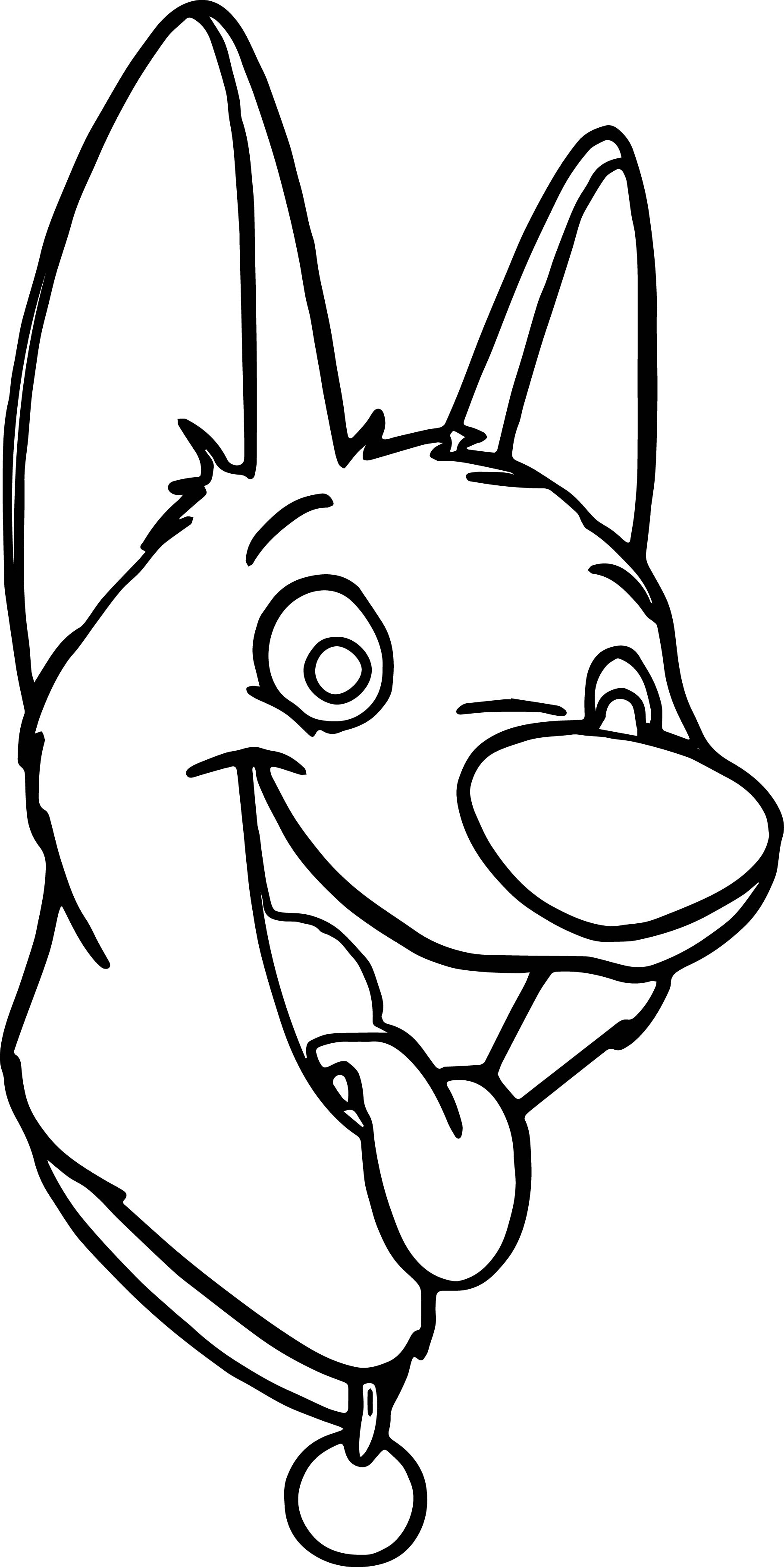 Bolt dog face coloring pages for Face coloring pages