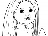 Brush Your American Girl Doll Hair Coloring Page