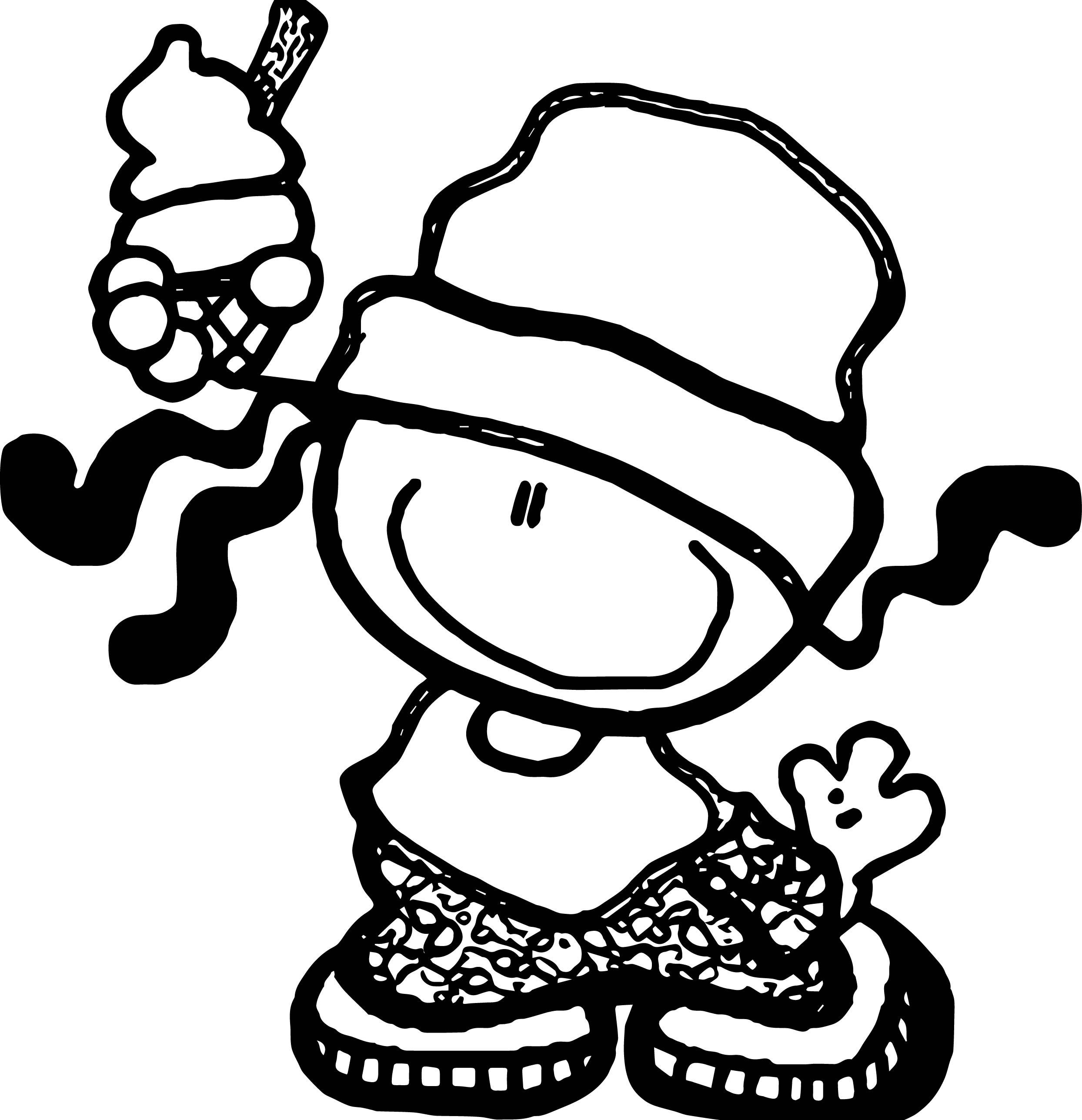 Bubblegum Kids Ice Cream Coloring Page