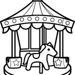 Carousel Coloring Page