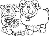 Carson Dellosa Family Sheep Coloring Page