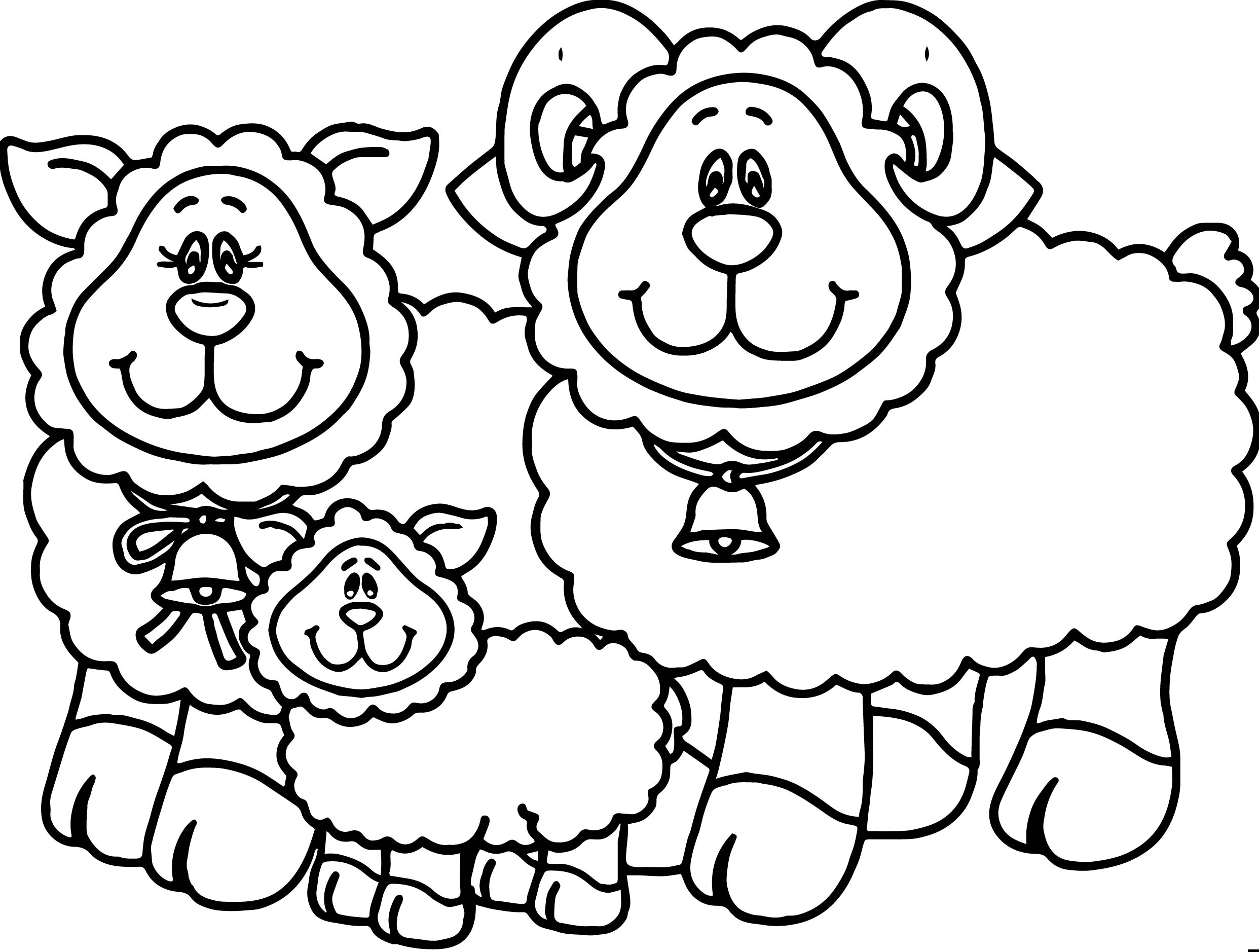 carson dellosa family sheep coloring page - Sheep Coloring Page