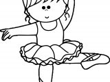 Cartoon Ballerina Coloring Page