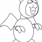 Cartoon Bat Coloring Page