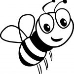 Cartoon Bee Smile Coloring Page
