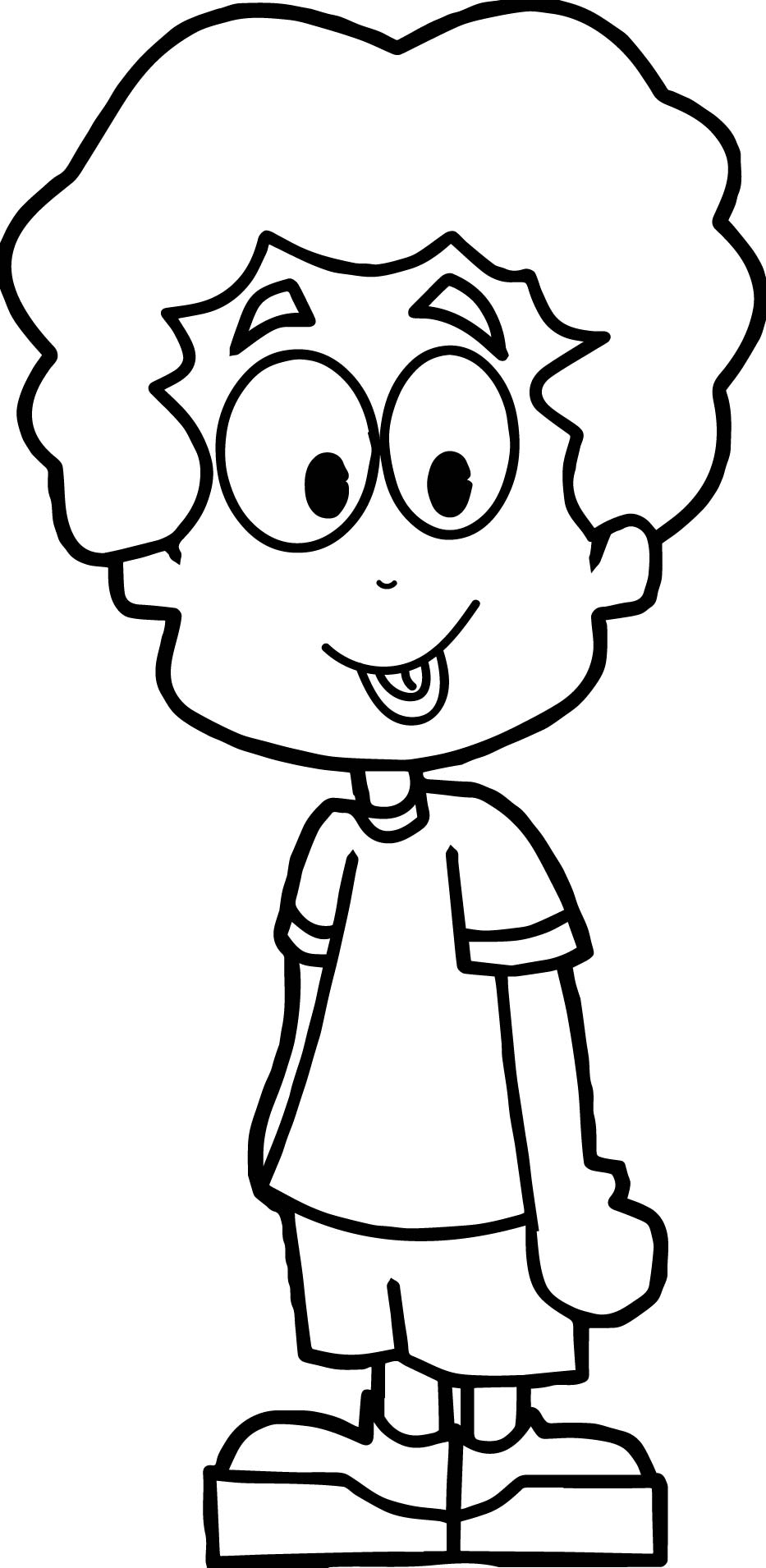Cartoon boy coloring page for Boys color pages
