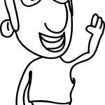 Cartoon Man Character Coloring Page
