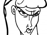 Cassandra Cassie Angry Woman Face Coloring Pages