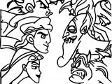 Cassandra Icharus And Young Hercules Coloring Pages