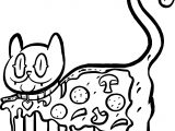 Cat Pizza Coloring Page