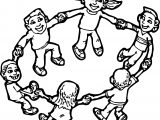 Children Playing Children Coloring Page