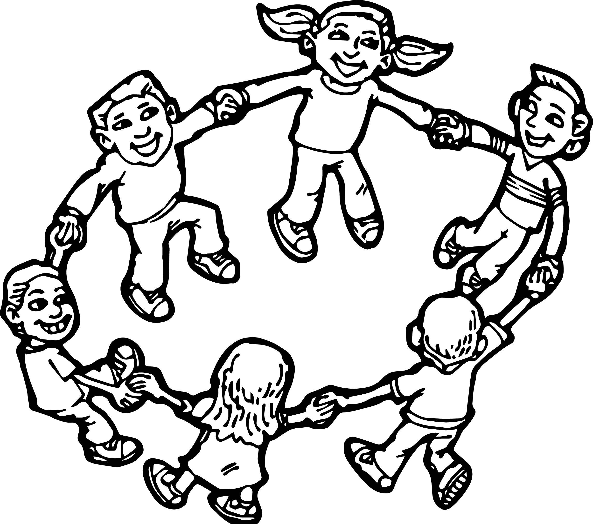 children playing children coloring page - Coloring Pictures Of Children