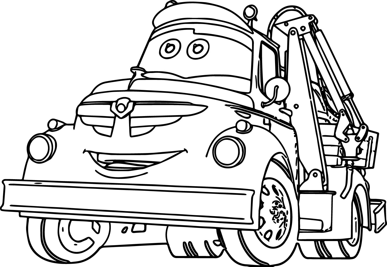 Chug Disney Car Wrecker Coloring Pages
