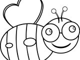 Crazy Bee Coloring Page