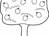 Cute Apple Tree Coloring Page