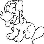 Cute Baby Pluto Coloring Page