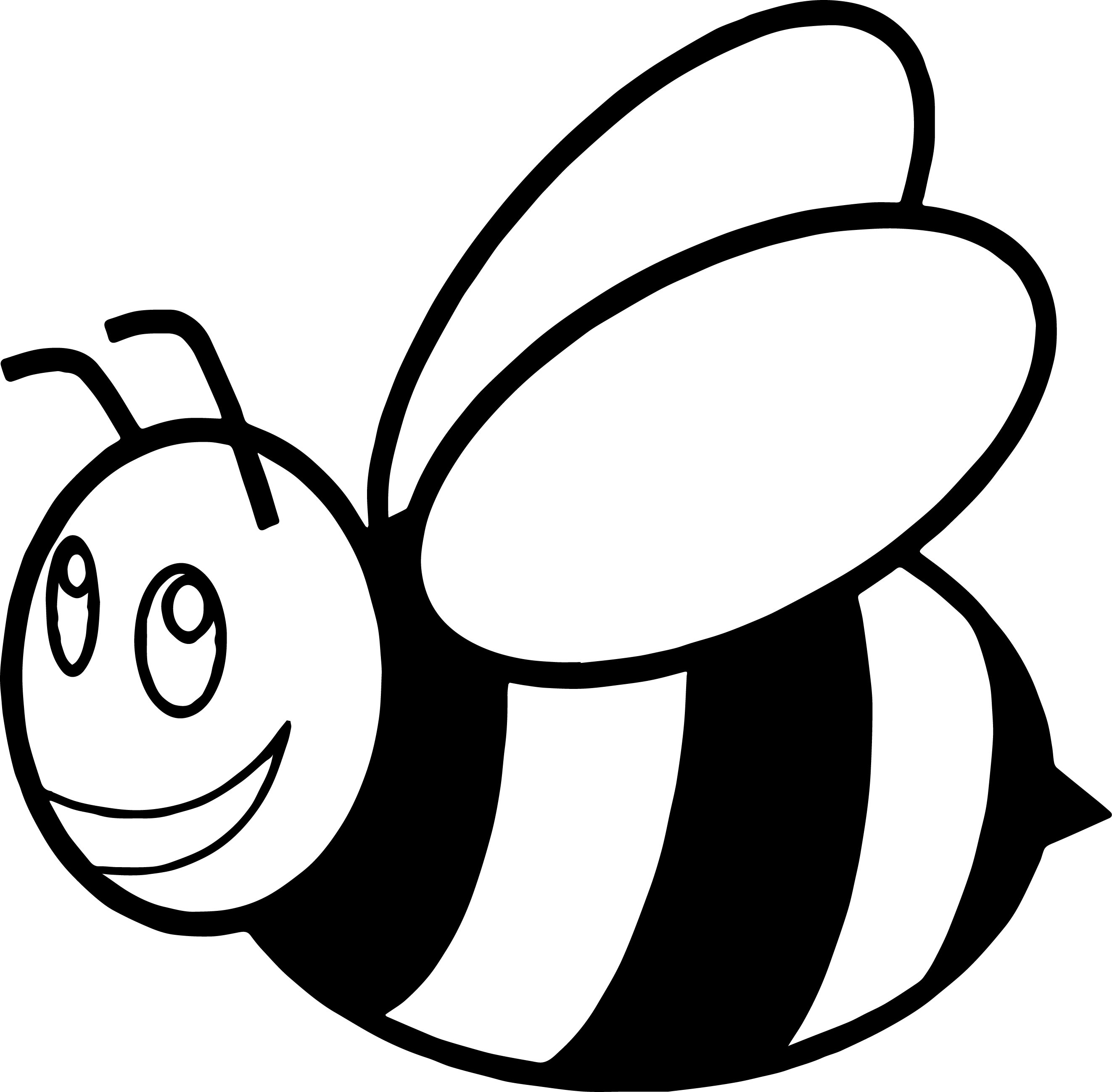 Cute Cartoon Bumble Bee Rubber Coaster Coloring Page