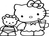 Cute Cartoon Hello Kitty Coloring Page