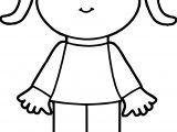 Cute Girl Waiting Coloring Page