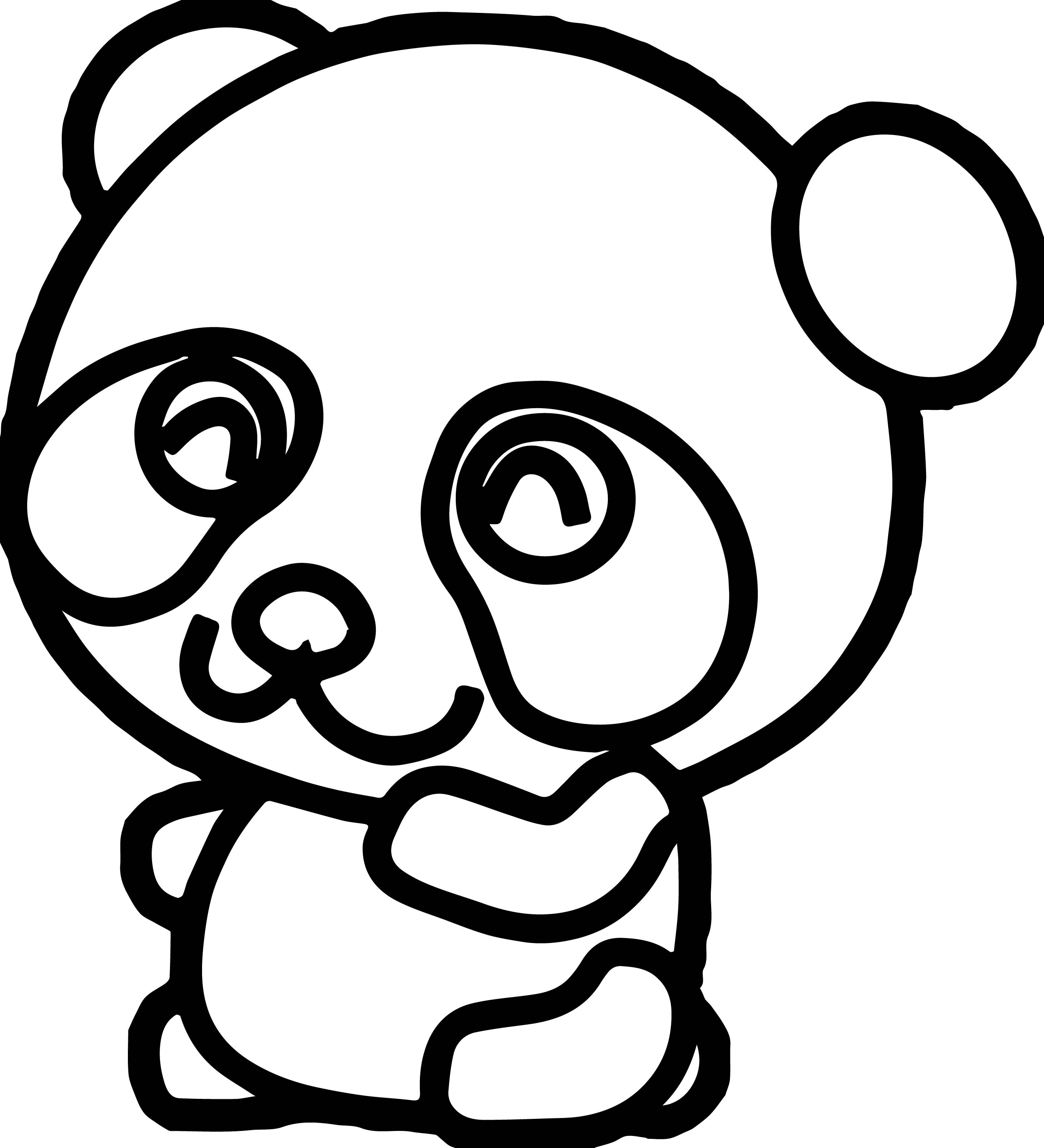 Coloring Pages Of Pandas Cute Kung Fu Panda Coloring Page  Wecoloringpage