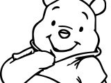 Cute Winnie The Pooh Coloring Page