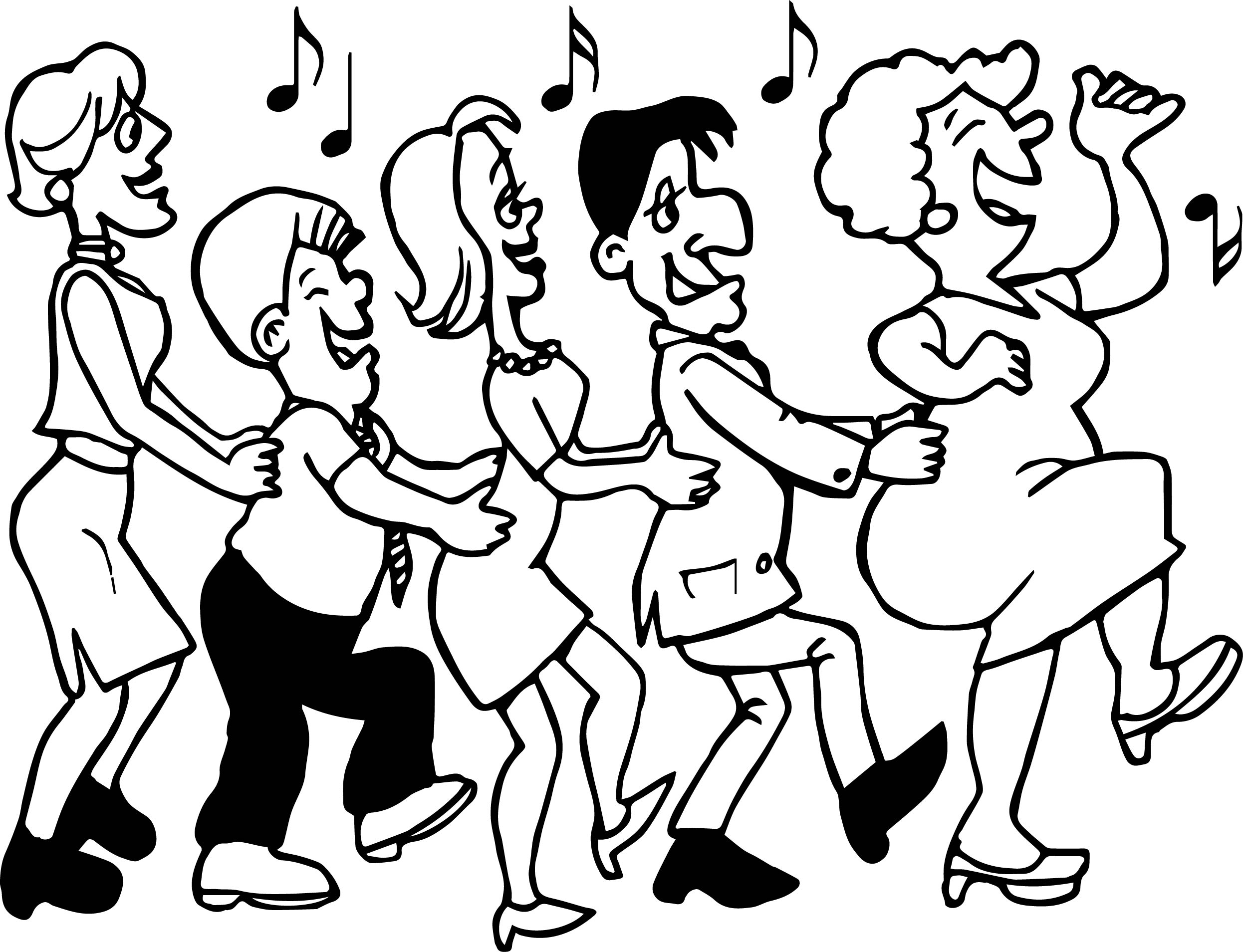 Dance Adult Coloring Page