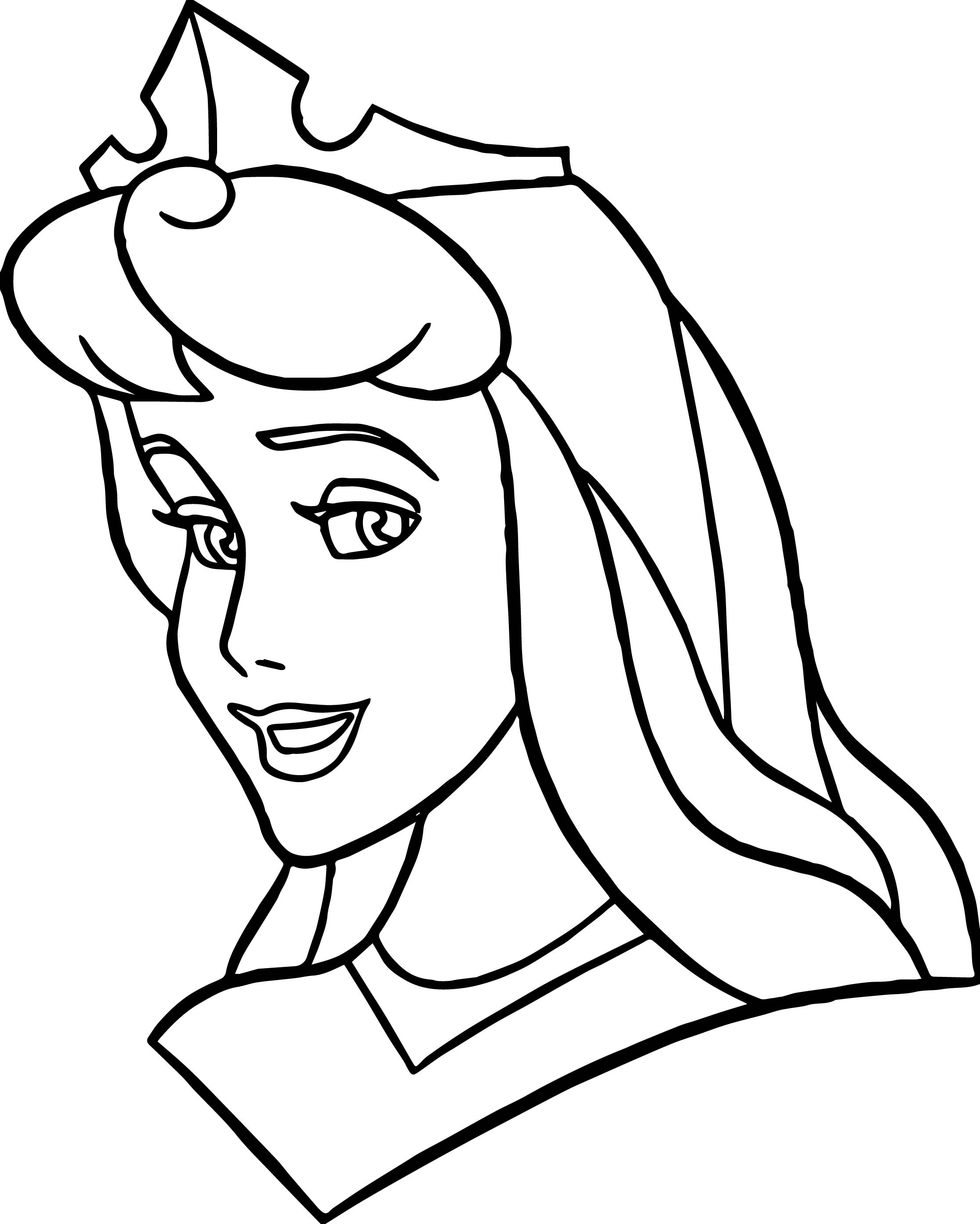disney princess sleeping beauty face coloring page wecoloringpage