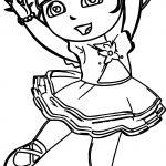 Dora Ballerina Coloring Page