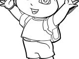 Dora The Explorer Going To School Coloring Page