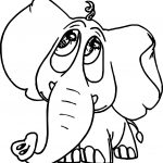 Elephant Look Pathetic Coloring Page