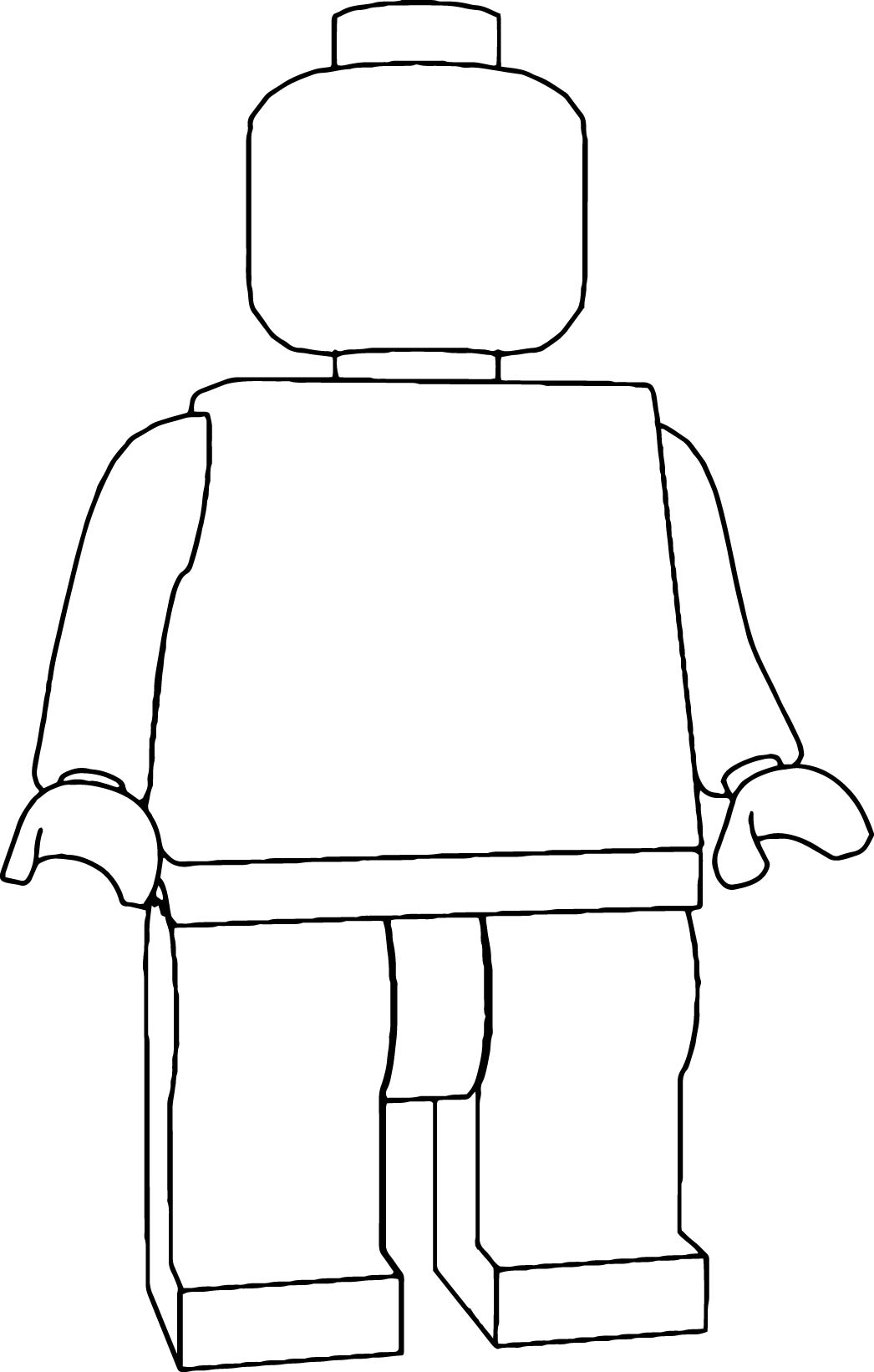 Empty Lego Body Coloring Page | Wecoloringpage