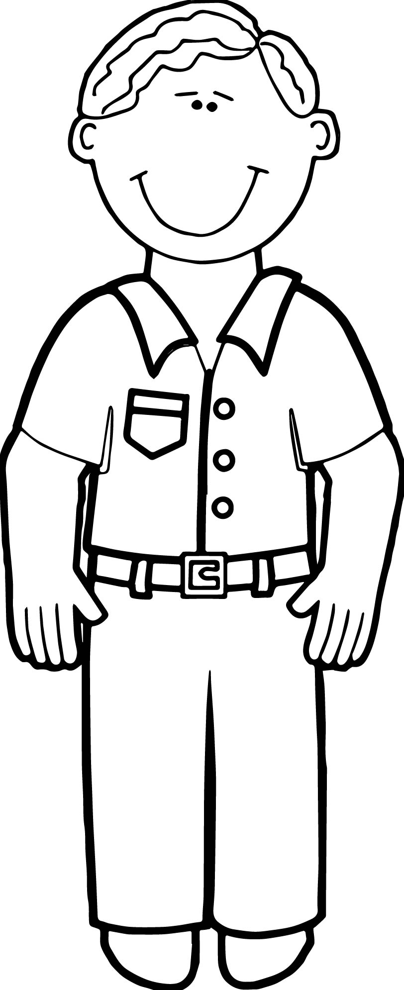 Family Daddy Adult Coloring Page