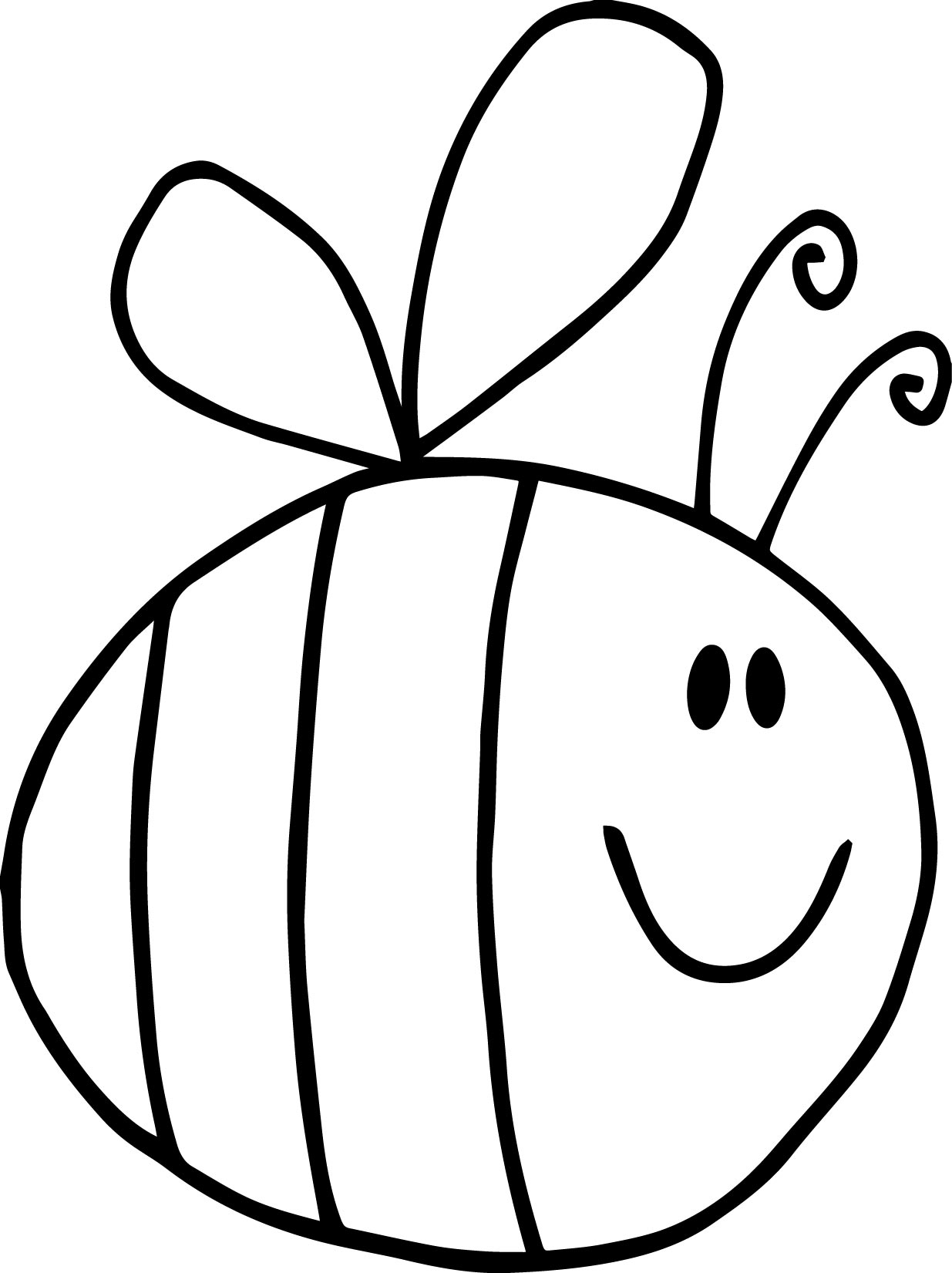 Fat bee coloring page for Bees coloring pages