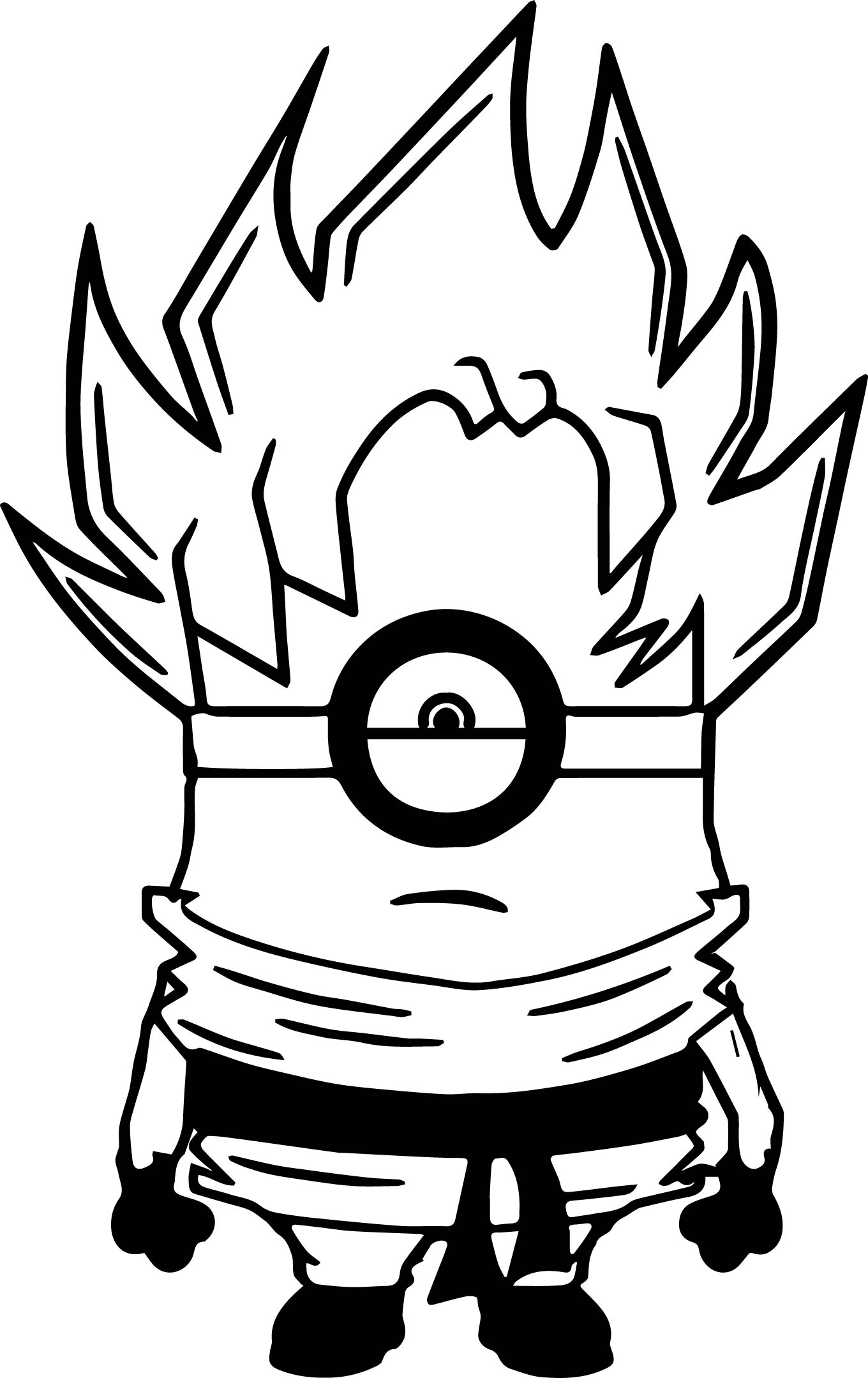 Fighter Minions Coloring Page