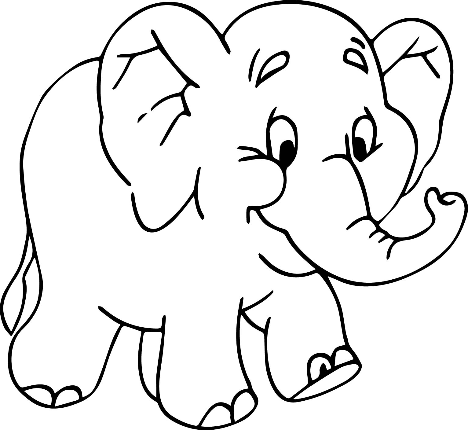 Fine Elephant Coloring Page