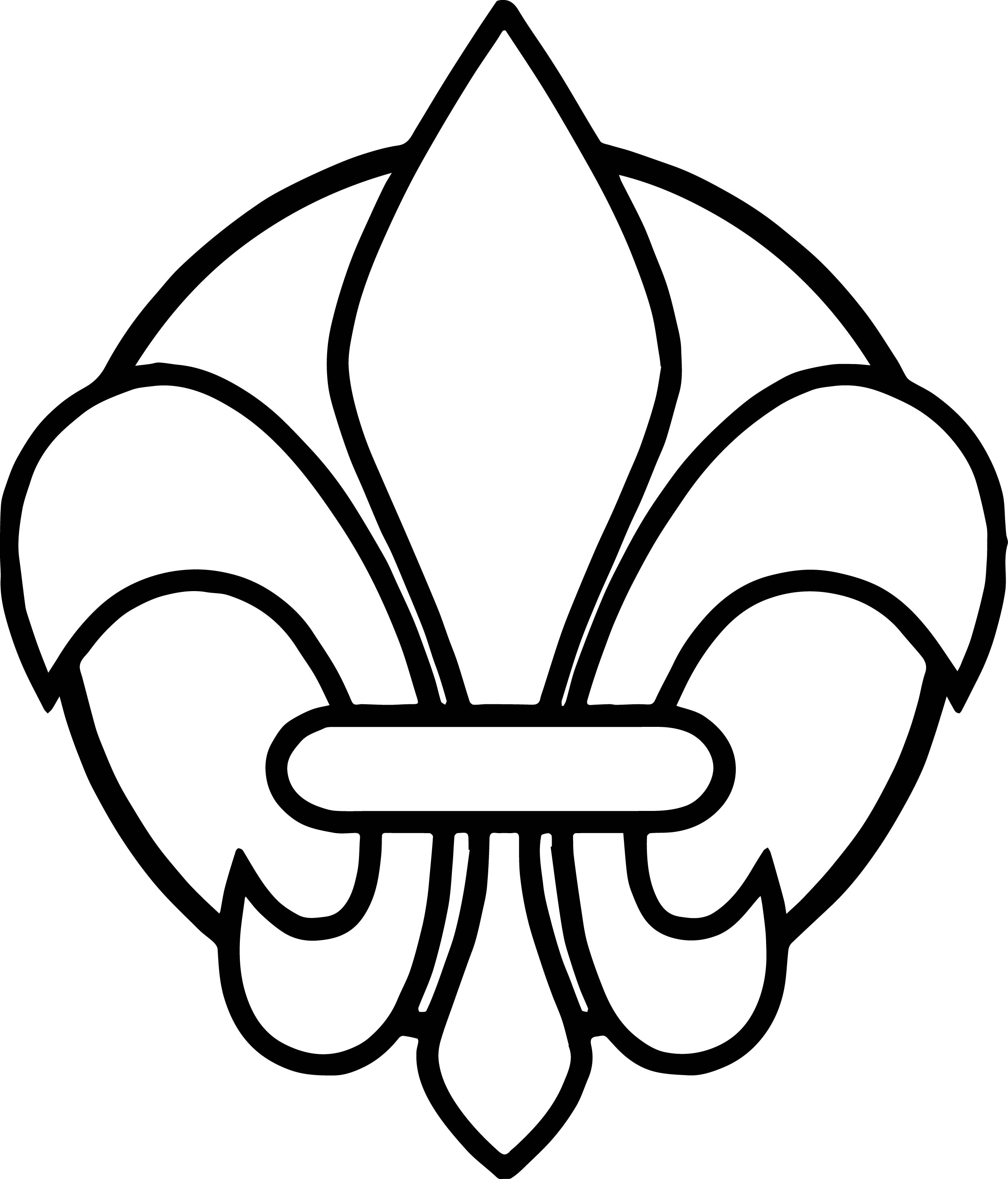 fleur de lis coloring pages - photo#25