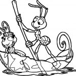 Flik Atta Boat A Bugs Life Coloring Page