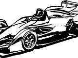 Formula Car Coloring Page